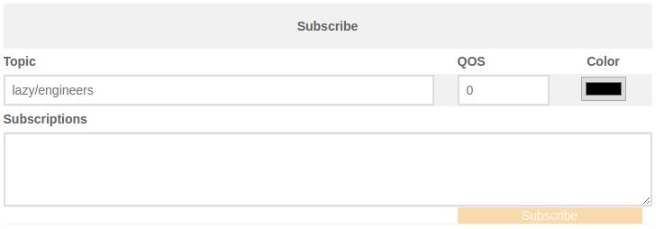 MQTT Subscribe