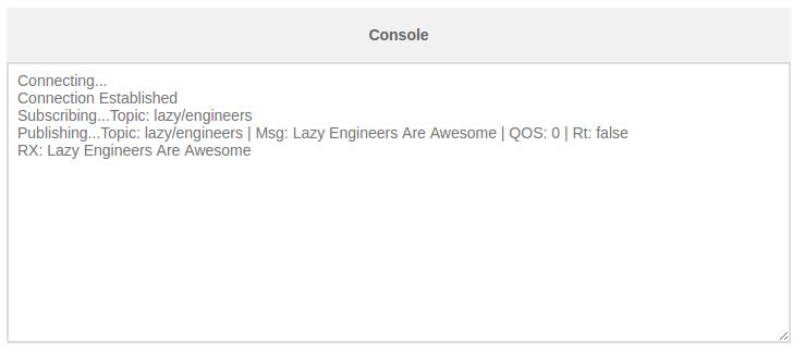 MQTT Console